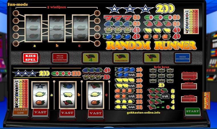 Random-Runner-Fruitmachine-Nederland